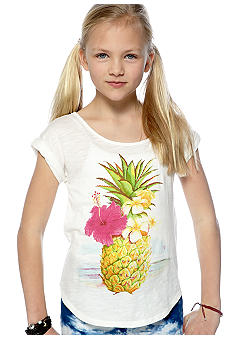 Lucky Brand Pineapple Tee Girls 7-16