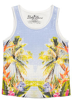 Lucky Brand Sequin Beach Tank Girls 4-6X