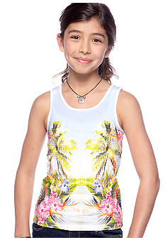 Lucky Brand Sequin Mirror Print Tank Girls 7-16