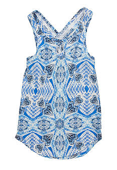Lucky Brand Tribal Print Tank Top Girls 4-6X