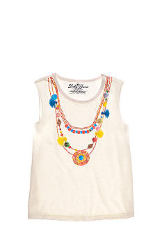 Lucky Brand Printed Necklace Tee Girls 4-6x