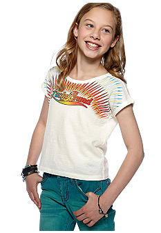 Lucky Brand Sunburst Boxy Top Girls 7-16