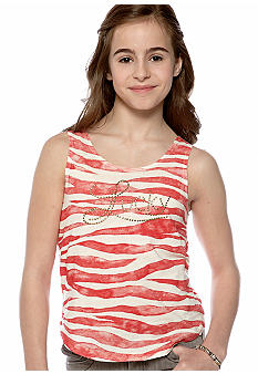Lucky Brand Stripe Logo Tank Girls 7-16