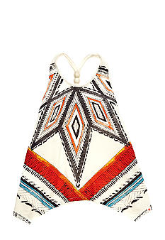 Lucky Brand Hanky Hem Tribal Tank Girls 4-6x