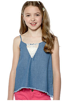 Lucky Brand Denim Tank Top Girls 7-16