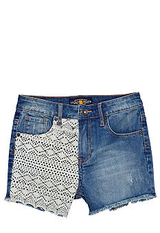 Lucky Brand Crochet Denim Short Girls 7-16