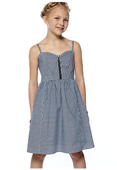 Lucky Brand Print Zip Front Dress Girls 7-16