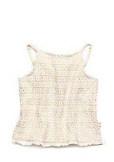 Lucky Brand Abby Crochet Tank Top Girls 7-16