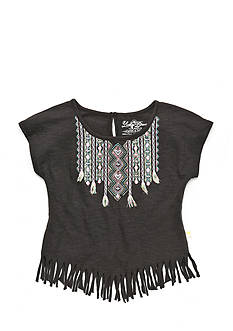 Lucky Brand Nola Fringe Top Girls 7-16