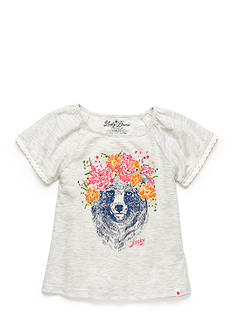 Lucky Brand Floral Bear Top Girls 7-16