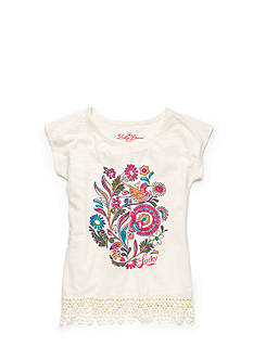 Lucky Brand Brett Glitter Top Girls 7-16