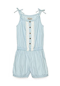 Lucky Brand Coco Denim Romper Girls 7-16