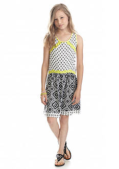 Lucky Brand Mixed Print Dress Girls 7-16