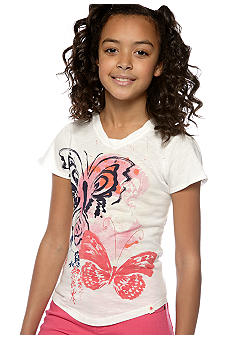 Lucky Brand Butterfly Graphic Knit Top Girls 7-16