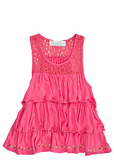 Lucky Brand Tiered Knit Tank Girls 4-6X