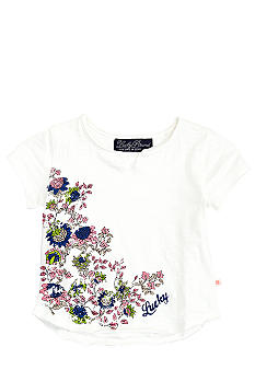 Lucky Brand Floral V-Neck Tee Girls 4-6X