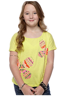 Lucky Brand Butterfly Graphic Top Girls 7-16