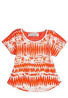 Lucky Brand Lace Back Print Top Girls 4-6X