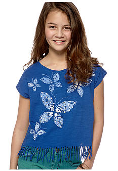 Lucky Brand Fringe Bottom Top Girls 7-16