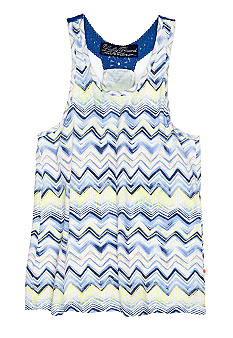Lucky Brand Zig Zag Print Knit Top Girls 4-6x