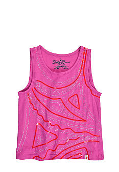 Lucky Brand Embellished Geographic Art Tank Girls 4-6X