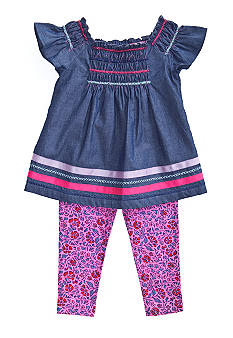 Lucky Brand Ganges River Tunic Set Girls 4-6X