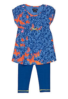 Lucky Brand Butterfly Tunic and Legging Set Girls 4-6X
