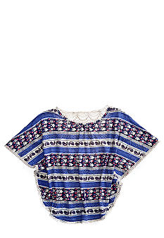 Lucky Brand Woodblock Stripe Tee Girls 4-6X