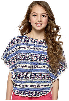 Lucky Brand Wood Block Stripe Top Girls 7-16