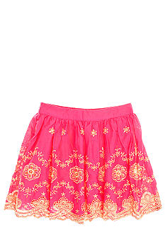 Lucky Brand Embroidered Skirt Girls 4-6X