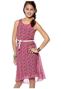 Lucky Brand Floral Hi Low Hem Woven Dress Girls 7-16
