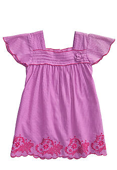 Lucky Brand Lotus Scallop Dress Girls 4-6X