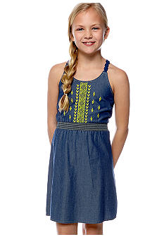 Lucky Brand Crochet Back Crochet Dress Girls 7-16