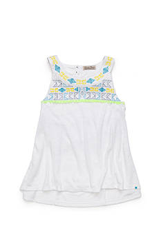 Lucky Brand Desirae Embroidered High Low Top Girls 4-6x