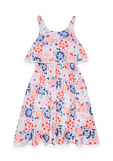 Lucky Brand Floral Tiered Dress Girls 4-6x