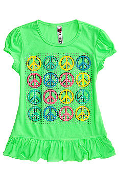 Red Camel Girls Peace Peplum Screen Tee Girls 7-16