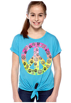 Red Camel Girls Tie Front Peace Tee Girls 7-16