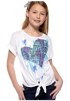 Red Camel Girls Tie Front Heart Tee Girls 7-16