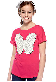 Red Camel Girls Tie Front Butterfly Tee Girls 7-16