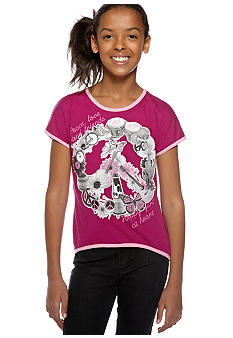 Red Camel Girls Hi Low Peace Love Tee Girls 7-16