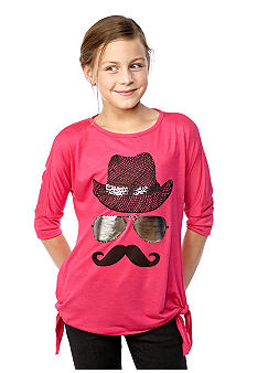 Red Camel Girls Side Tie Mustache Tee Girls 7-16