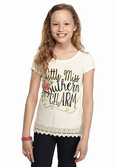 Red Camel 'Southern Charm' Crochet High Low Top Girls 7-16