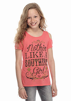 Red Camel Cold Shoulder 'Southern Girl' High Low Top Girls 7-16