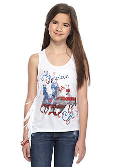 Red Camel 'All American' Horse Fringe Tank Top Girls 7-16