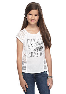 Red Camel 'Chance To Be Amazing' Crochet Top Girls 7-16