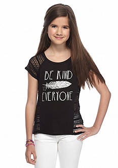 Red Camel 'Be Kind To Everyone' Crochet Top Girls 7-16