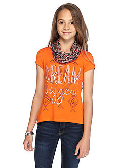 Red Camel 2Fer 'Dream Bigger' Top and Scarf Girls 7-16