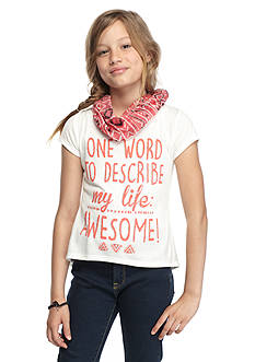 Red Camel 'My Life: Awesome' Printed High Low Top Girls 7-16
