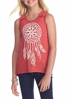 Red Camel Printed Dreamcatcher Tank Top Girls 7-16