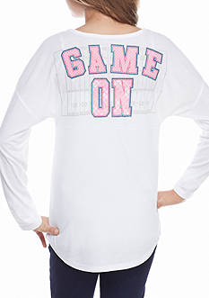 Red Camel White 'Game On' Sweeper Top